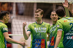 Jannes van der Ham of Orion, Adam White of Orion in action during the league match between Active Living Orion vs. Amysoft Lycurgus on March 20, 2021 in Doetinchem.