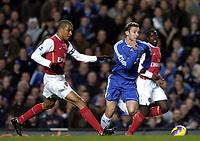 Photo: Olly Greenwood.<br />Chelsea v Arsenal. The Barclays Premiership. 10/12/2006. Chelsea's Andriy Shevchenko and Arsenal's Gilberto