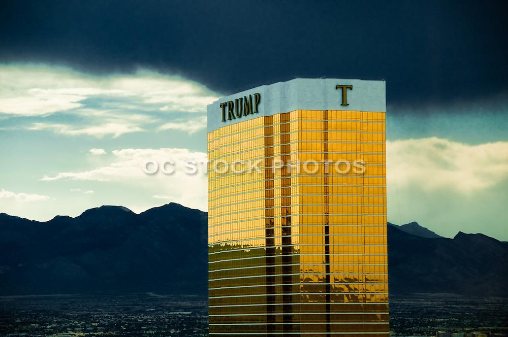 Trump Tower Las Vegas Casino Under a Storm Cloud