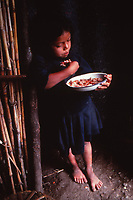 Nicaragua - child eating in the countryside