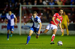 Bristol Rovers Defender Tom Lockyer (ENG) in action during the first half of the match - Photo mandatory by-line: Rogan Thomson/JMP - Tel: Mobile: 07966 386802 22/10/2013 - SPORT - FOOTBALL - The Store First Stadium - Accrington Stanley v Bristol Rovers - Sky Bet Football League 2.