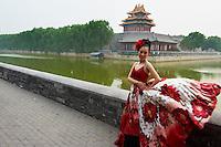 Chine, Pekin, jour de mariage, cité interdite // China, Beijing, wedding day, forbiden city