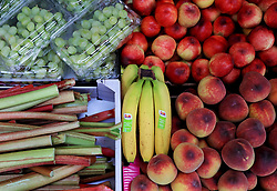 A view of fruit for sale on a fruit and vegetable stall in London. Picture date: Thursday May 2, 2019. Photo credit should read: Gareth Fuller/PA Wire