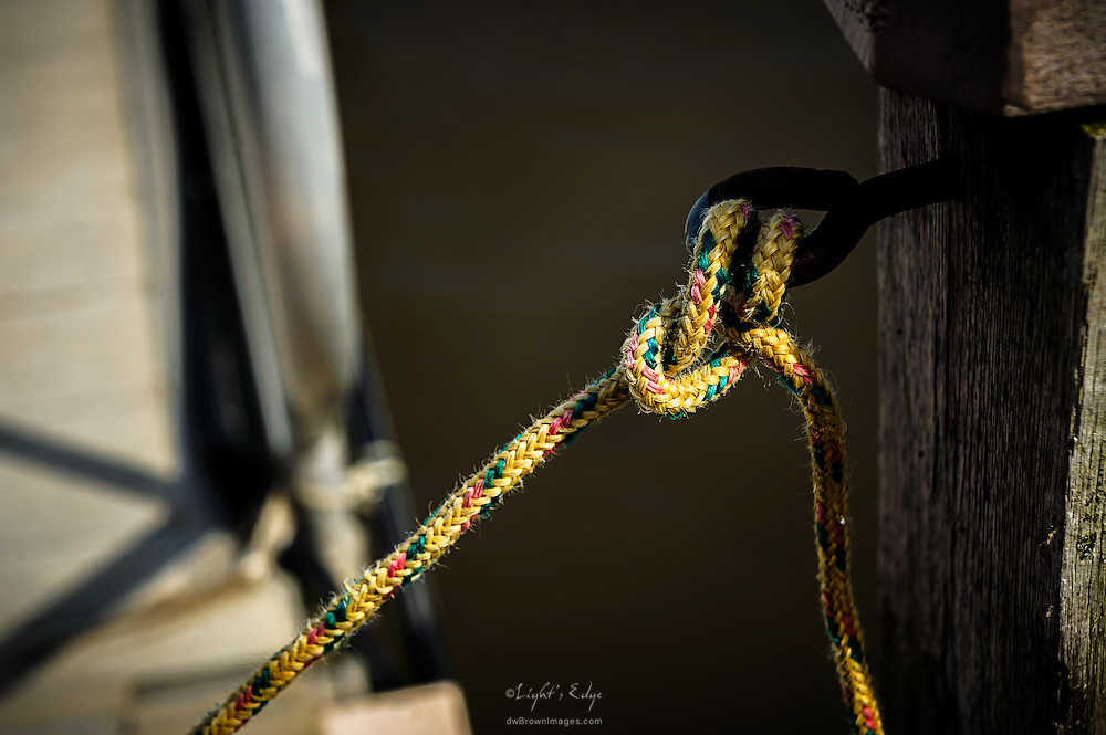 Another example of the varied knots that can be seen on docks or boats. Taken at the dock leading to the AJ Meerwald based at The Bayshore Center at Bivalve.
