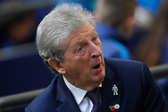 Crystal Palace Manager Roy Hodgson looks on from the dugout.  Premier league match, Tottenham Hotspur v Crystal Palace at Wembley Stadium in London on Sunday 5th November 2017.<br /> pic by Steffan Bowen, Andrew Orchard sports photography.