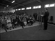 Ballymun Scout Hall.1982.28.07.1982.07.28.1982.28th July 1982.Sean Doherty TD Opens Ballymun Scout Hall,Albert College Drive, Dublin 9 ..The minister addresses the assembled audience.