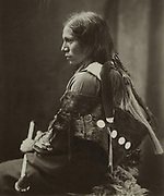 Sioux  Native American Indian man, 1890.