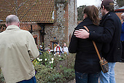 Little Walsingham, Norfolk, England, 06/04/2007..Anglican pilgrims on Good Friday at the Shrine of Our Lady of Walsingham. Pilgrims of various Christian denominations travel to Walsingham, one of Britain's oldest and most important centres of pilgrimage, to celebrate Easter.