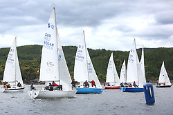 The Silvers Marine Scottish Series 2014, organised by the  Clyde Cruising Club,  celebrates it's 40th anniversary.<br /> Day 1, Sonata Class, Start, GBR8304N, Jazz, Neil Manderson, Helensburgh SC <br /> <br /> Racing on Loch Fyne from 23rd-26th May 2014<br /> <br /> Credit : Marc Turner / PFM