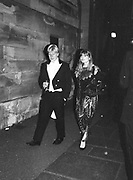 BORIS JOHNSON; ALLEGRA MOSTYN-OWEN, Christchurch  Commen Ball. Oxford, 26 June 1987. <br />  SUPPLIED FOR ONE-TIME USE ONLY> DO NOT ARCHIVE. © Copyright Photograph by Dafydd Jones 248 Clapham Rd.  London SW90PZ Tel 020 7820 0771 www.dafjones.com