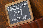 sign on tank 2007 prestige domaine roger sabon chateauneuf du pape rhone france