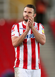 Stoke City's Erik Pieters applauds the fans after the final whistle