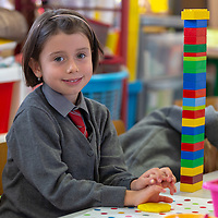 Ella O'Donnell at her First day at Crusheen National School