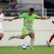 Unidentified Puerto Rico United player (5)during a United Soccer League Pro soccer match between Puerto Rico United and the Orlando City Lions at the Florida Citrus Bowl on April 22, 2011 in Orlando, Florida.  (AP Photo/Alex Menendez)