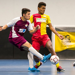 BRISBANE, AUSTRALIA - JULY 30:  during the Series Futsal Queensland Round 7 match between South Brisbane FC and Algester Latincol FC on July 30, 2017 in Brisbane, Australia. (Photo by Patrick Leigh Perspectives)