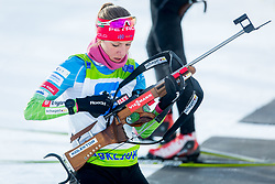 Anja Erzen of Slovenia during Slovenian National Cup in Biathlon, on December 30, 2017 in Rudno polje, Pokljuka, Slovenia. Photo by Ziga Zupan / Sportida