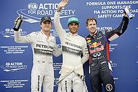MOTORSPORT - F1 2014 - GRAND PRIX OF MALAYSIA  - SEPANG (MAL) - 28 TO 30/03/2014 - <br /> POLE POSITION<br /> HAMILTON LEWIS (GBR) - MERCEDES GP MGP W05 - AMBIANCE PORTRAIT<br /> VETTEL SEBASTIAN (GER) - RED BULL RENAULT RB10 - AMBIANCE PORTRAIT<br /> ROSBERG NICO (GER) - MERCEDES GP MGP W05 - AMBIANCE PORTRAIT