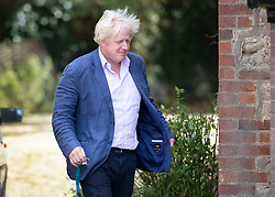 © Licensed to London News Pictures. 10/09/2018. Thame, UK. Boris Johnson arrives at his Oxfordshire house . Last week it was announced that Boris Johnson and his wife Marina Wheeler are getting divorced. Photo credit: Peter Macdiarmid/LNP