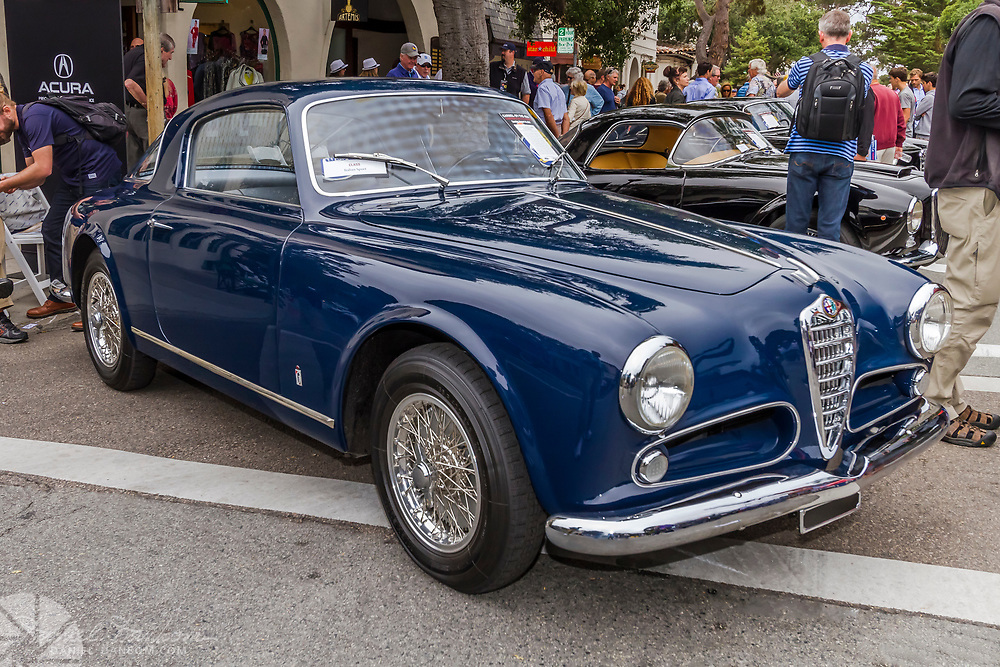 Alfa Romeo, at the Concours on the Avenue, held during Historic Auto Week in Carmel-by-the Sea, on the Monterey Peninsula, California