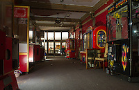 Renovation work done by Bonnette, Page and Stone at the Colonial Theater in downtown Laconia.  Looking towards main entrance - Lobby.   ©2016 Karen Bobotas Photographer