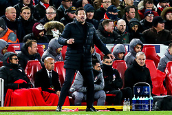 Atletico Madrid manager Diego Simeone - Mandatory by-line: Robbie Stephenson/JMP - 11/03/2020 - FOOTBALL - Anfield - Liverpool, England - Liverpool v Atletico Madrid - UEFA Champions League Round of 16, 2nd Leg