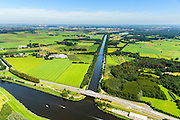 Nederland, Noord-Brabant, Breda, 23-08-2016; Markkanaal, verbinding tussen de Mark en Wilhelminakanaal. Waterberging en ondeerdeel van de recreatieve West-Brabantroute. <br /> Mark Canal, the connection between river Mark and Wilhelmina canal. Water storage and part of the recreational West Brabant Route.<br /> <br /> aerial photo (additional fee required); <br /> luchtfoto (toeslag op standard tarieven); copyright foto/photo Siebe Swart