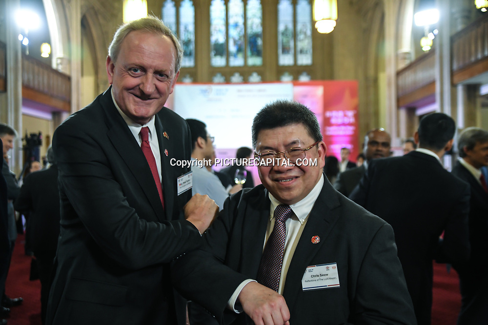 China Chamber of Commerce in the UK hosts China-UK United We Stand Peter Estlin formal London Mayor attend China-UK United We Stand together to fights the #Covid19 at Guildhall, on 28th February 2020, London, UK.to fights the #Covid19 regardless of the racist attacks China of #coronavirus has already infected in Europe - Italy at Guildhall, on 28th February 2020, London, UK.
