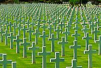 2,841 graves at the North Africa American Cemetery, Sidi Bou Said (Tunis), Tunisia.