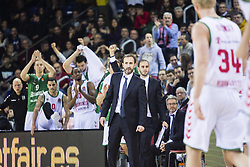 January 27, 2017 - Barcelona, Spain - The Baskonia team celebrating the victory during the Euroleague Turkish Airlines EuroLeague regular season between FC Barcelona vs Baskonia Vitoria Gasteiz at Palau Blaugrana on January 28th, 2017 in Barcelona, Spain. (Credit Image: © Xavier Bonilla/NurPhoto via ZUMA Press)