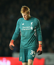Adam Bogdan of Liverpool looks dejected.  - Mandatory byline: Alex James/JMP - 08/01/2016 - FOOTBALL - St James Park - Exeter, England - Exeter City v Liverpool - FA Cup Third Round