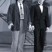 NLD/Bussum/19881222 - Sportverkiezing van het Jaar 1988 in het Spant, optreden, Rene Froger en Gerard Joling