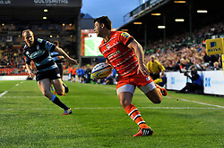 Ben Youngs scores Leicester Tigers' second try - Photo mandatory by-line: Patrick Khachfe/JMP - Mobile: 07966 386802 29/08/2014 - SPORT - RUGBY UNION - Leicester - Welford Road - Leicester Tigers v Cardiff Blues - Pre-Season Friendly