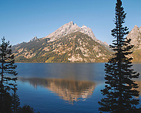 Early Morning Jenny Lake Reflections. Image taken with a Nikon D200 camera and 18-75 mm kit lens (ISO 100, 18 mm, f/6.3, 1/160 sec).