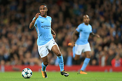 17th October 2017 - UEFA Champions League - Group F - Manchester City v Napoli - Raheem Sterling of Man City - Photo: Simon Stacpoole / Offside.