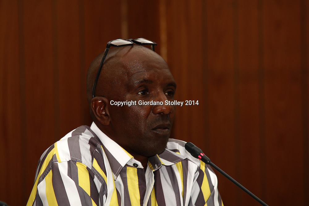 TONGAAT - 4 April 2014 - eThekwini Metro Building inspector Cyril Dube testifies before the commission of inquiry by the Department of Labour into the events that led to a Tongaat Mall collapsing, killing two people and injuring 29 on November 19, 2013. Picture: Allied Picture Press/APP