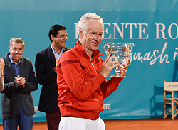 Carlos Moya beats John McEnroe in the final of the Senior Masters 2017. 30 Sep 2017 Pictured: Carlos Moya wins tennis legend John McEnroe in Senior Master Cup 2017 in Spain. Photo credit: MEGA TheMegaAgency.com +1 888 505 6342