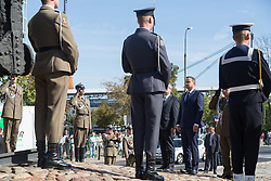September 17, 2016 - Warsaw, Poland - President of Poland, Andrzej Duda laid flowers at Monument to the Fallen and Murdered in the East during the Anniversary of Soviet invasion of Poland on 1939 in Warsaw, Poland on 17 September 2016  (Credit Image: © Mateusz Wlodarczyk/NurPhoto via ZUMA Press)