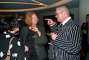 MARGOT HENDERSON; FERGUS HENDERSON;, The French Laundry reception to celebrate the October opening of the 10-day pop-up ' French laundry restaurant in Harrods. The Penthouse, Harrods. London. 31 August 2011.<br /> <br />  , -DO NOT ARCHIVE-© Copyright Photograph by Dafydd Jones. 248 Clapham Rd. London SW9 0PZ. Tel 0207 820 0771. www.dafjones.com.