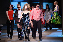 Models wear designs by Art School on the catwalk during the MAN London Fashion Week Men's AW18 show, held at the Old Selfridge's Hotel, London. Picture date: Sunday January 7th, 2018. Photo credit should read: Matt Crossick/ EMPICS Entertainment.