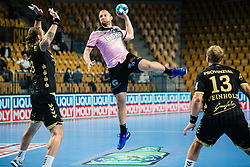 Ziga Mlakar  of RK Celje Pivovarna Lasko during handball match between RK Celje Pivovarna Lasko (SLO) and THW Kiel (GER) in Group Phase B of EHF Champions League 2020/21, on 1 October, 2020 in Arena Zlatorog, Celje, Slovenia. Photo by Grega Valancic / Sportida