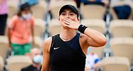 Paula Badosa of Spain after winning the fourth round at the Roland-Garros 2021, Grand Slam tennis tournament on June 6, 2021 at Roland-Garros stadium in Paris, France - Photo Rob Prange / Spain ProSportsImages / DPPI / ProSportsImages / DPPI