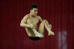 Duran Omer of Southend Diving competes in the Mens 1m Springboard Preliminary - Photo mandatory by-line: Rogan Thomson/JMP - 07966 386802 - 20/02/2015 - SPORT - DIVING - Plymouth Life Centre, England - Day 1 - British Gas Diving Championships 2015.