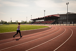 Running track, Basildon Sporting Village, Essex UK