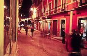 16 JANUARY 2002, GUANAJUATO, GUANAJUATO, MEXICO: Night time street scene near Plaza Union Jardin in the city of Gunajuato, state of Guanajuato, Mexico, Jan. 16, 2002.  .PHOTO BY JACK KURTZ