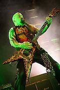 Slayer performing at Mayhem Fest 2012 at Verizon Wireless Amphitheater in St. Louis, Missouri on July 20, 2012.