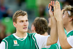 Zoran Dragic of Slovenia during friendly basketball match between National teams of Slovenia and Montenegro of Adecco Ex-Yu Cup 2011 as part of exhibition games before European Championship Lithuania 2011, on August 7, 2011, in Arena Stozice, Ljubljana, Slovenia. Slovenia defeated Crna Gora 86-79. (Photo by Vid Ponikvar / Sportida)