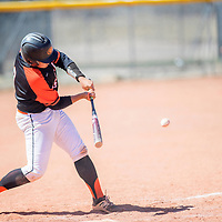 Gallup Bengal Trystin Chavez (9) lines up a swing on a  Grants Pirate pitch at Gallup High School Tuesday.