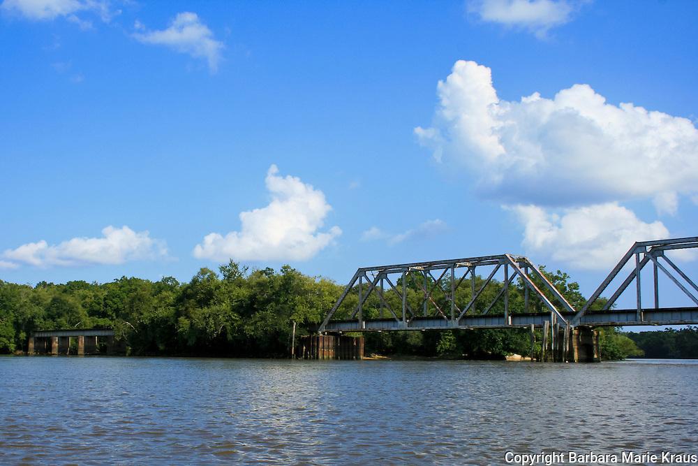 Altamaha River Bridge View of the Altamaha River in Southeast Georgia