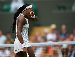 LONDON, ENGLAND - Monday, July 8, 2019: Cori Gauff (USA) during the Ladies' Singles fourth round match on Day Seven of The Championships Wimbledon 2019 at the All England Lawn Tennis and Croquet Club. Halep won 6-3, 6-3. (Pic by Kirsten Holst/Propaganda)
