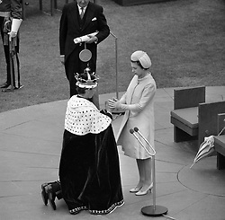 The Prince of Wales investiture at Caernarfon Castle.